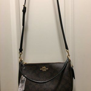 COACH BROWN AND BLACK CROSSBODY